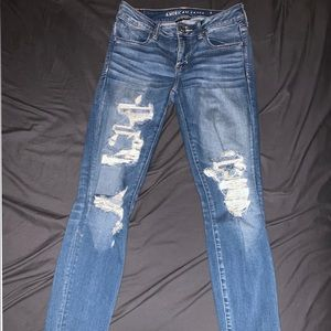 American Eagle Blue Distressed Jeans